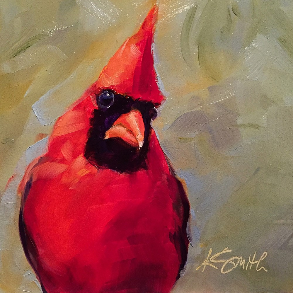 """cardinal"" original fine art by Kim Smith"