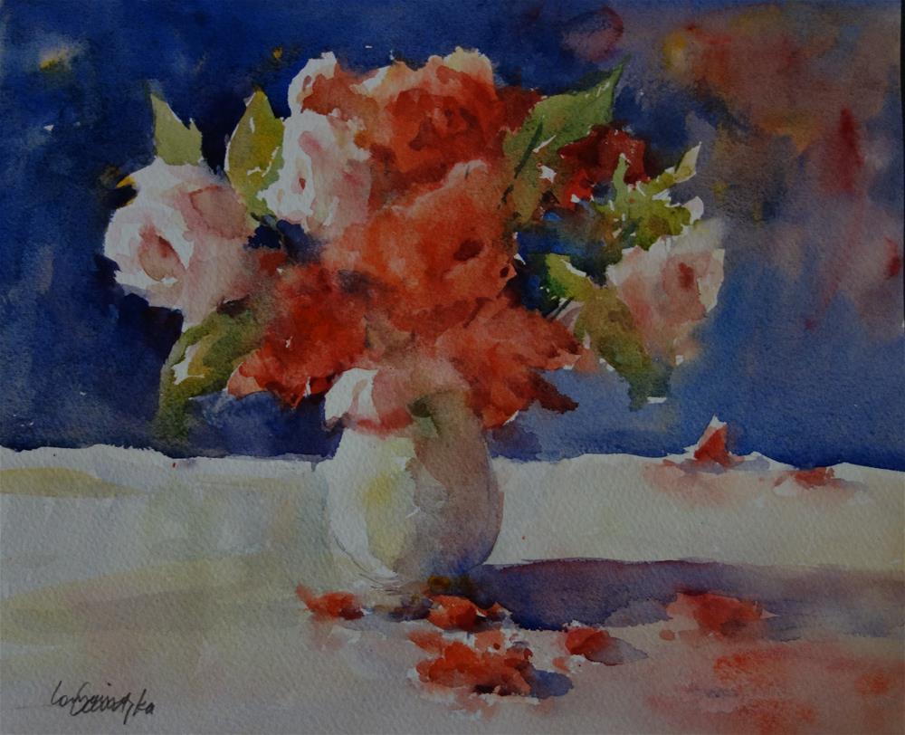 """Last Roses"" original fine art by Lorraine Lewitzka"