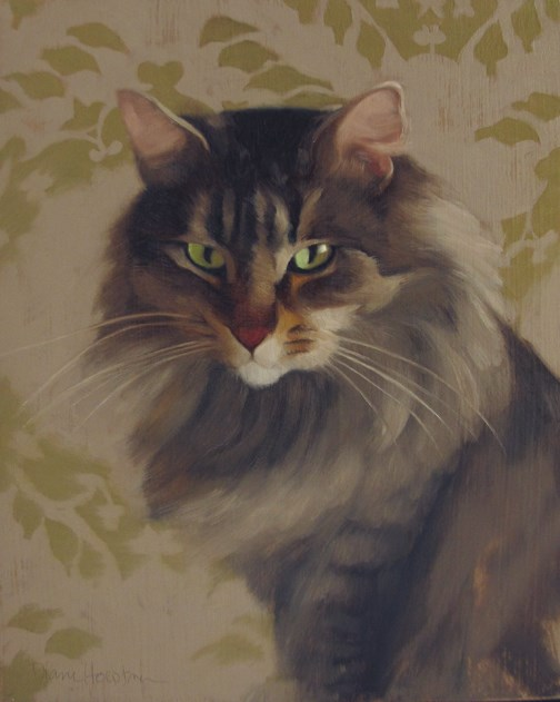 """Maine Coon"" original fine art by Diane Hoeptner"