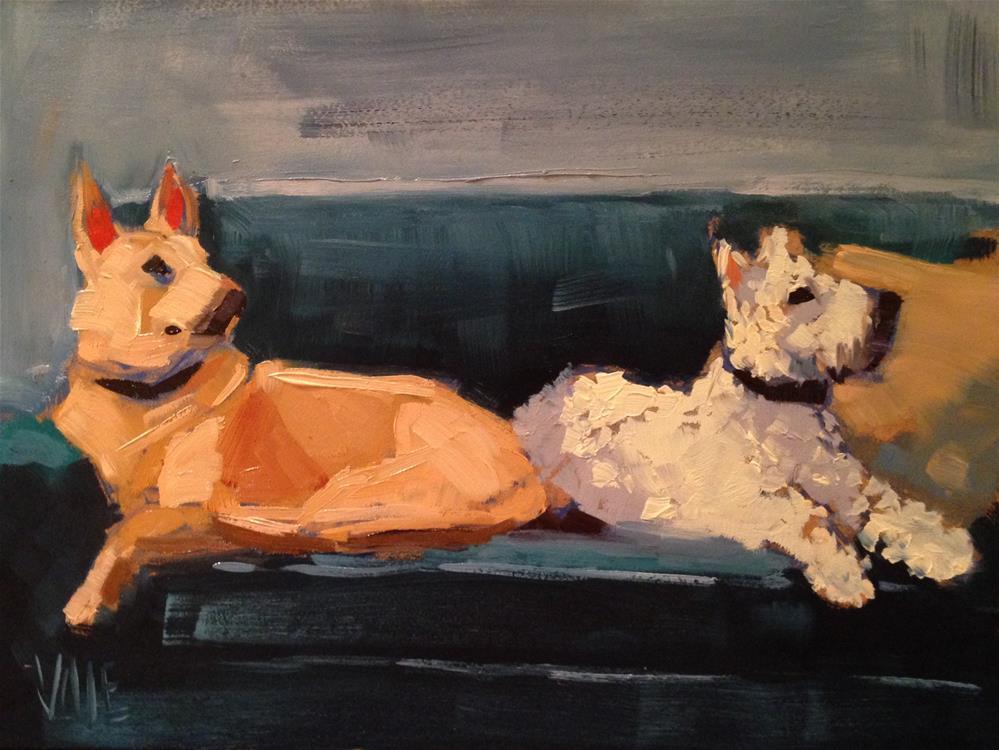 """""""#141 Lily & Gus"""" original fine art by Patty Voje"""