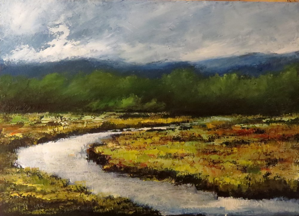 """Marshes II"" original fine art by Bob Kimball"