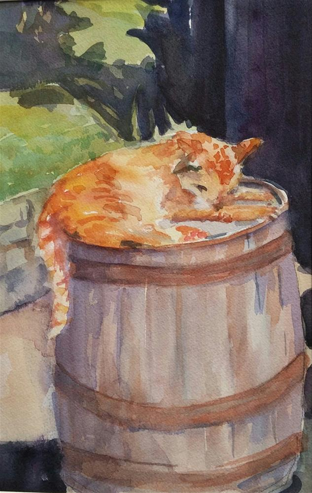 """Sunning"" original fine art by angela scully"