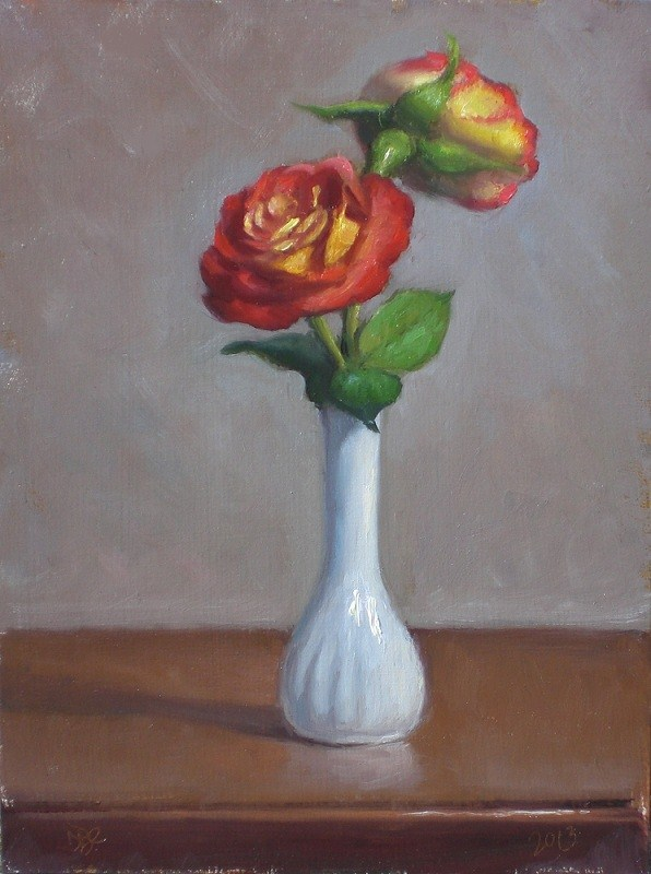 """Roses Study"" original fine art by Debra Becks Cooper"