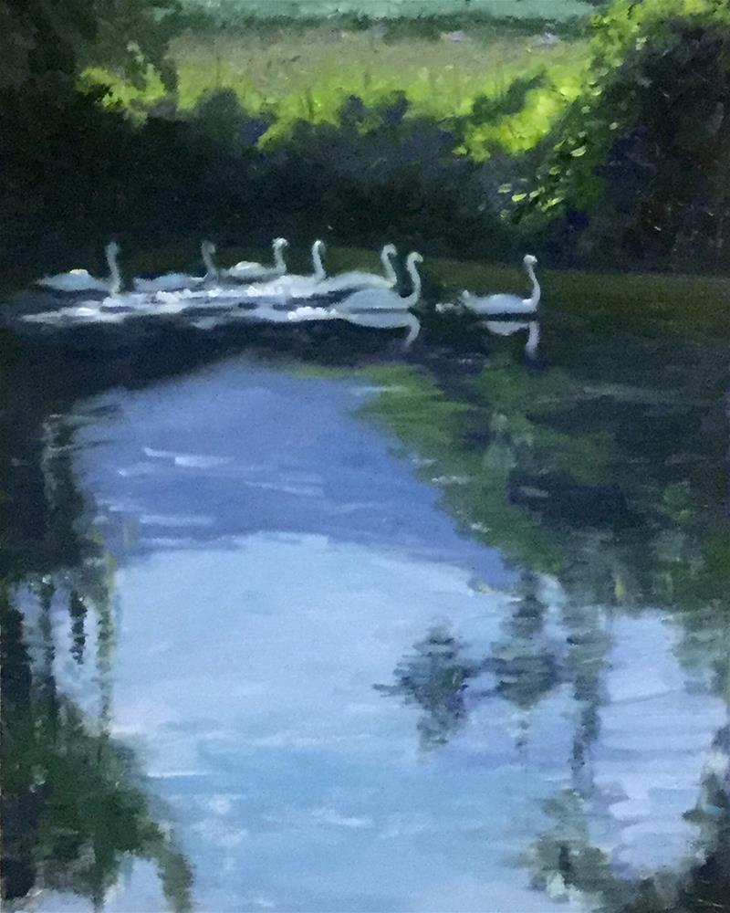 """Gliding Along the Rhine"" original fine art by Judy Elias"
