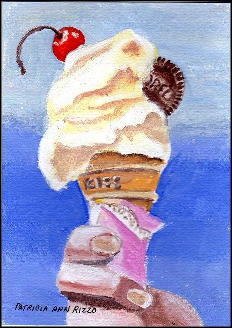 """Ice Cream Cone!"" original fine art by Patricia Ann Rizzo"