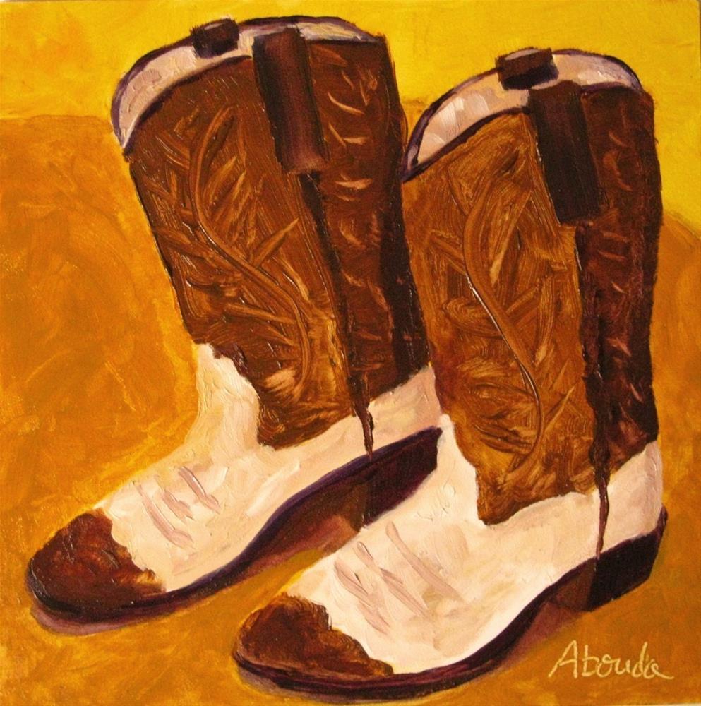"""Cowboy Boots"" original fine art by Sandy Abouda"