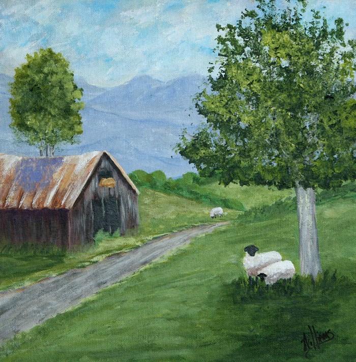 """Greener Pastures"" original fine art by Sunny Williams"