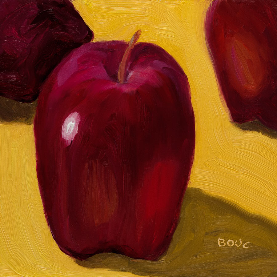 """Apples, Delicious #1"" original fine art by Jana Bouc"