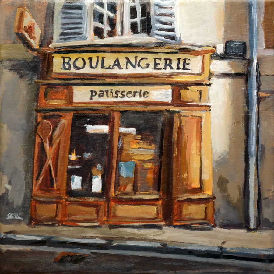 """1175 Boulangerie"" original fine art by Dietmar Stiller"
