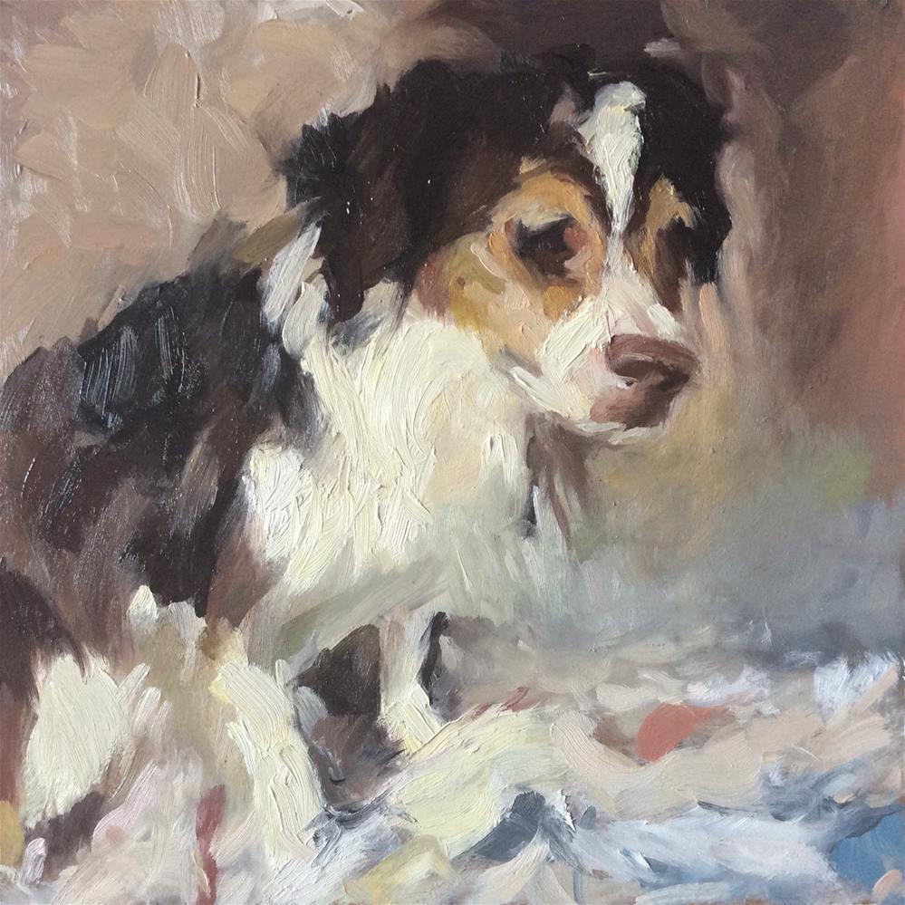 """Spaniel"" original fine art by Paula Howson-Green"