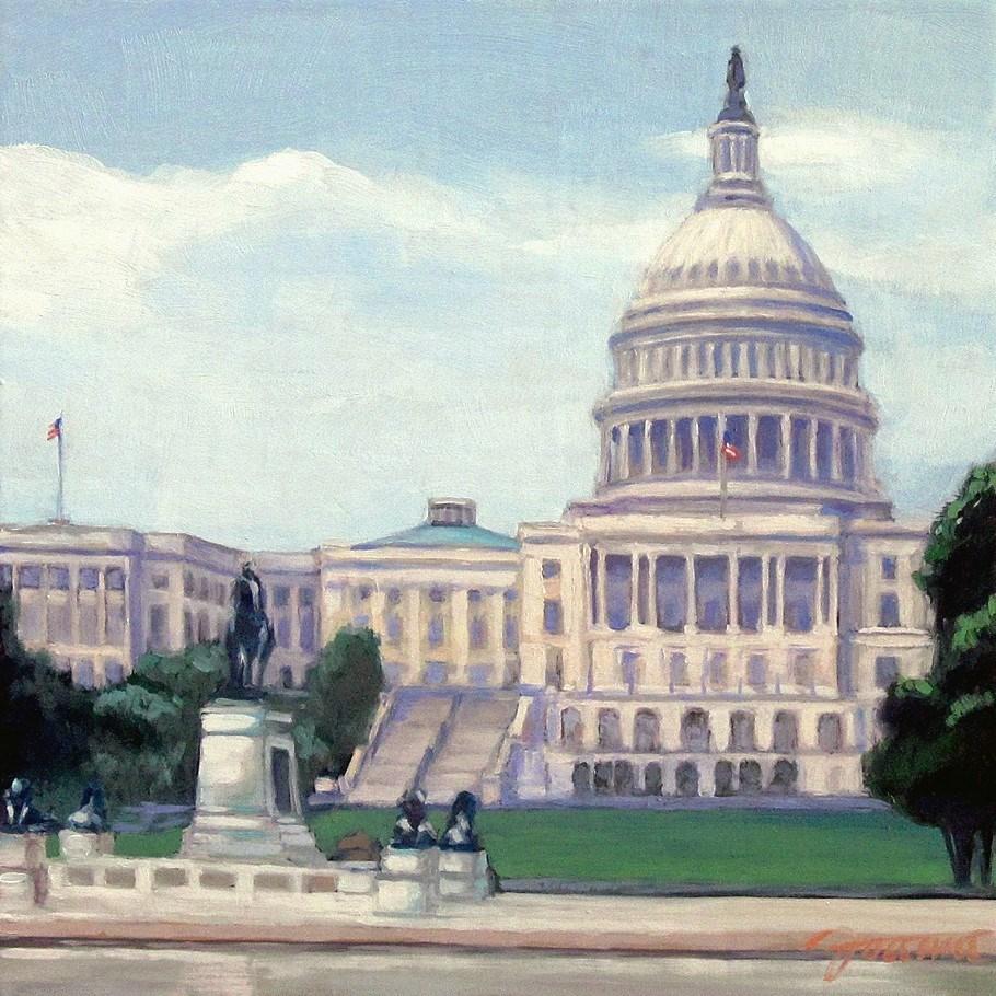 """Capitol"" original fine art by Joanna Bingham"