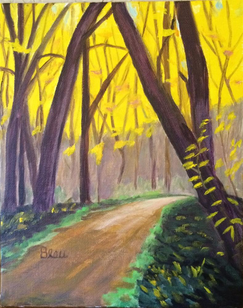 """Autumn road"" original fine art by Beau Crump"