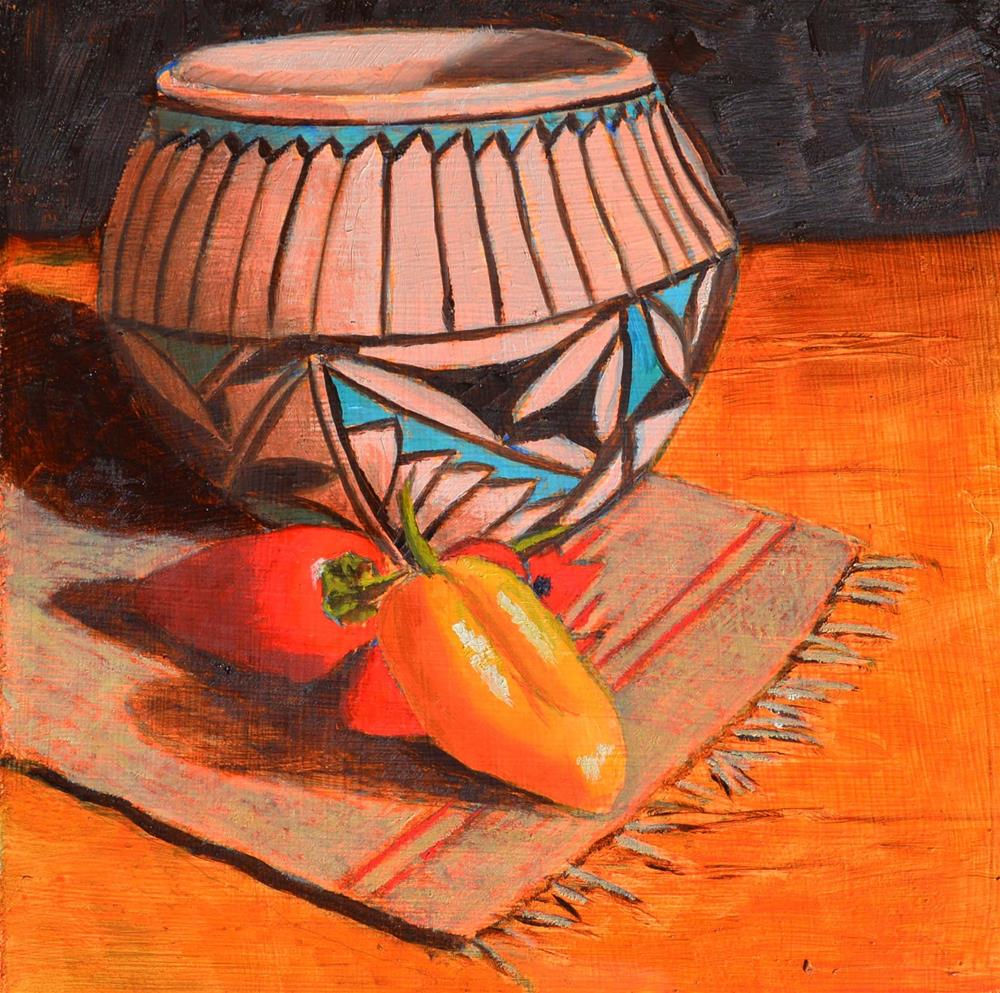 """Navajo Pot"" original fine art by Robert Frankis"