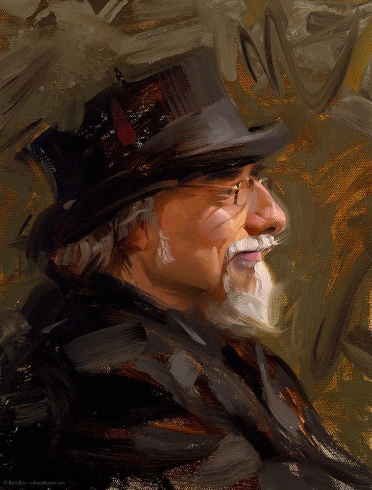 """Dapper"" original fine art by Rob  Rey"