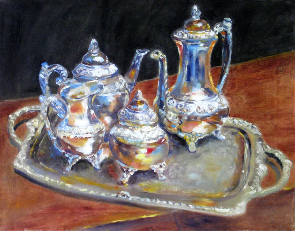 """""""Silver Beauty"""" original fine art by Julia Lu"""