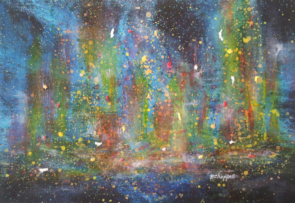 """Urban Lights"" original fine art by Becky Chappell"