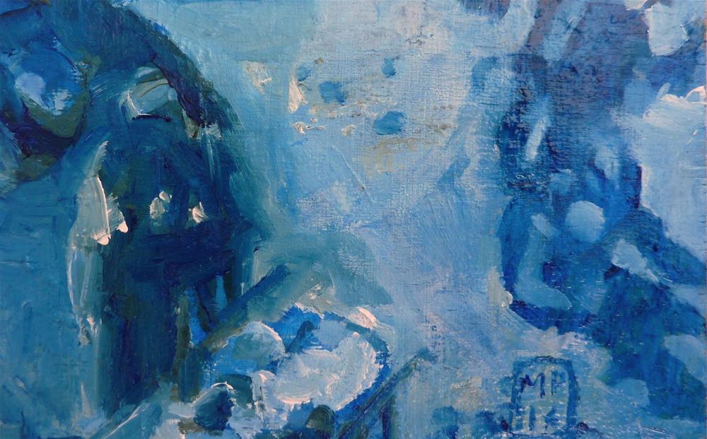 """""""Figurativ in blau / figures in blue"""" original fine art by Mila Plaickner"""