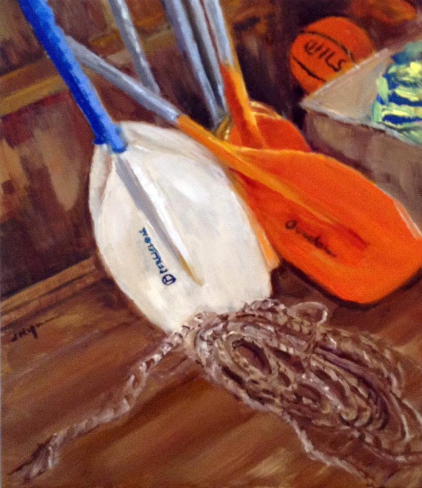 """""""Dock House Clutter"""" original fine art by Shelley Koopmann"""