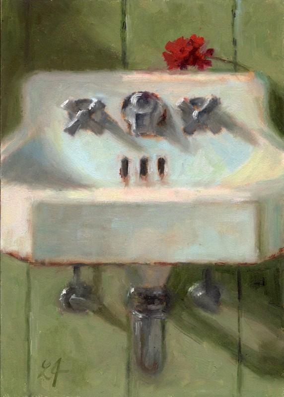 """Cottage Sink"" original fine art by Linda Jacobus"