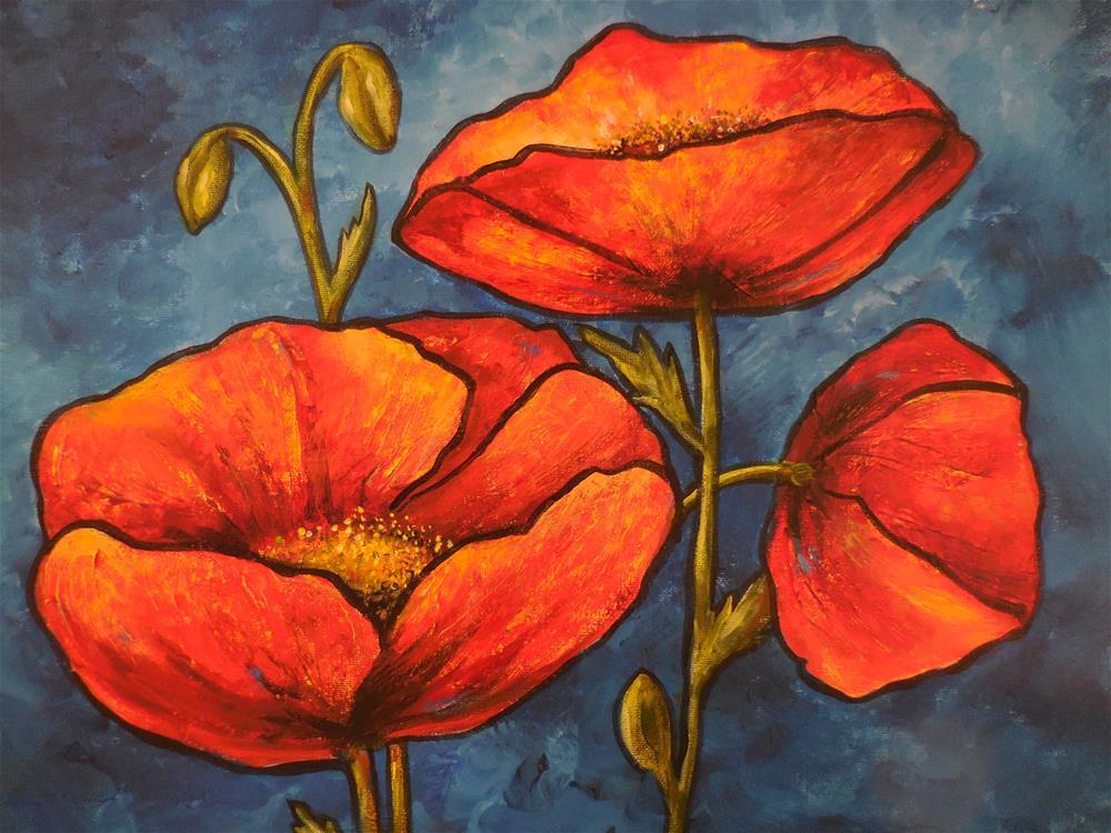 """Poppies"" original fine art by Terri Nicholson"