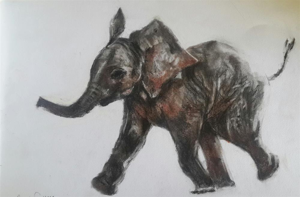 """Baby ellie"" original fine art by Rentia Coetzee"
