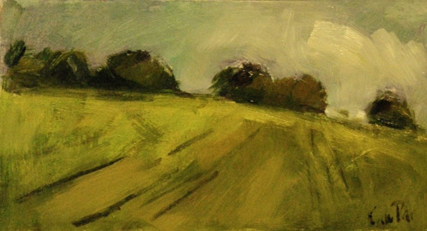 """Trees on Hill"" original fine art by Andre Pallat"