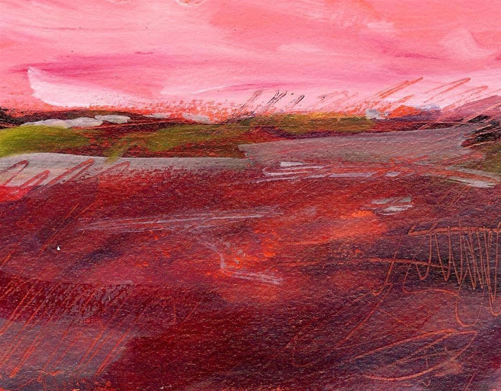 Rose Colored Landscape original fine art by Margie Whittington