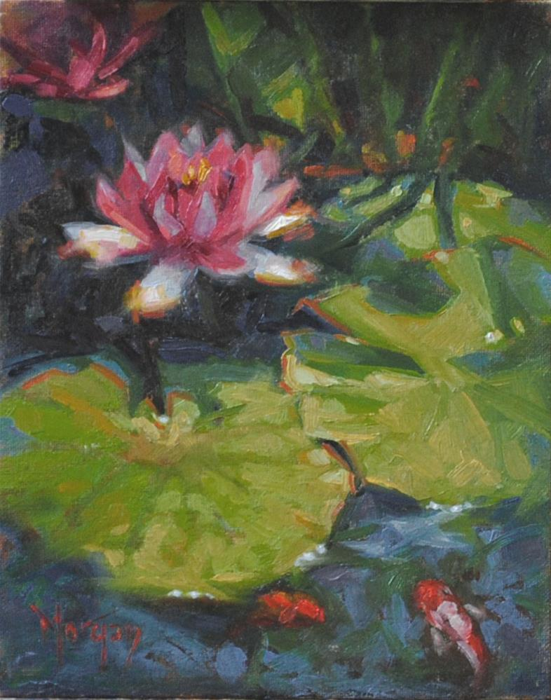 """Waterlilies"" original fine art by Cecile W. Morgan"