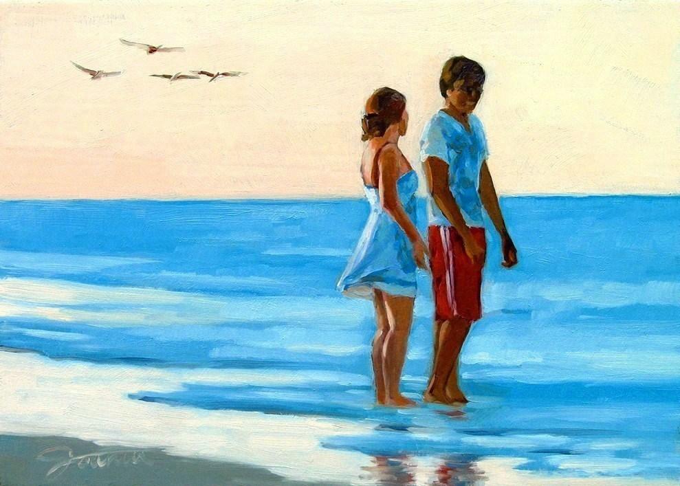 """""""In The Love Season"""" original fine art by Joanna Bingham"""