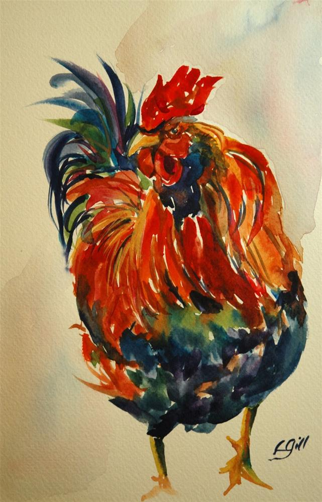 """Coop King!"" original fine art by Lyn Gill"