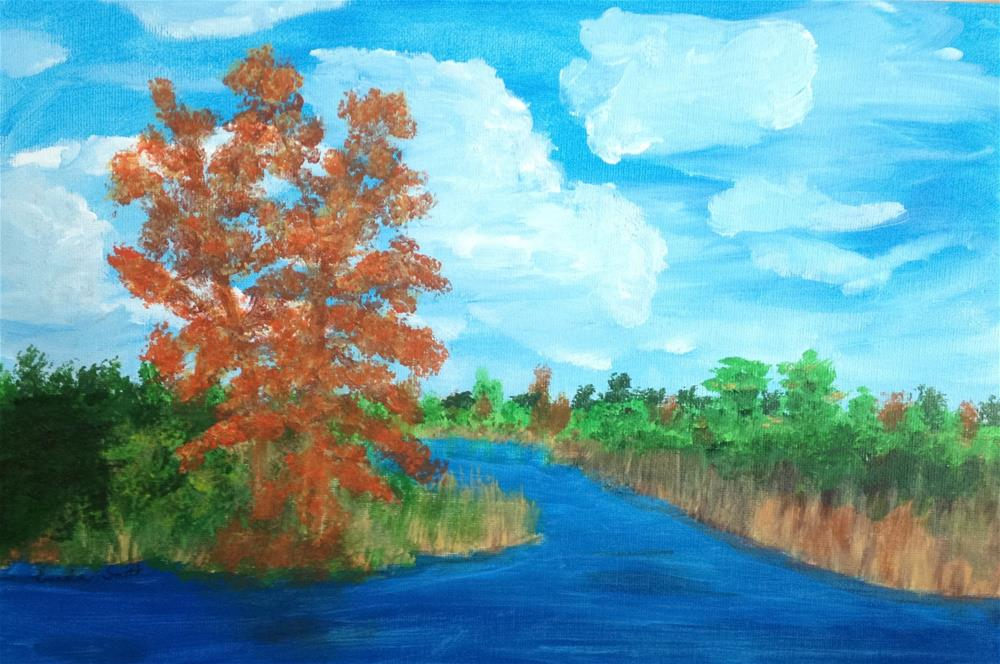 """Autumn"" original fine art by Brenda Smith"
