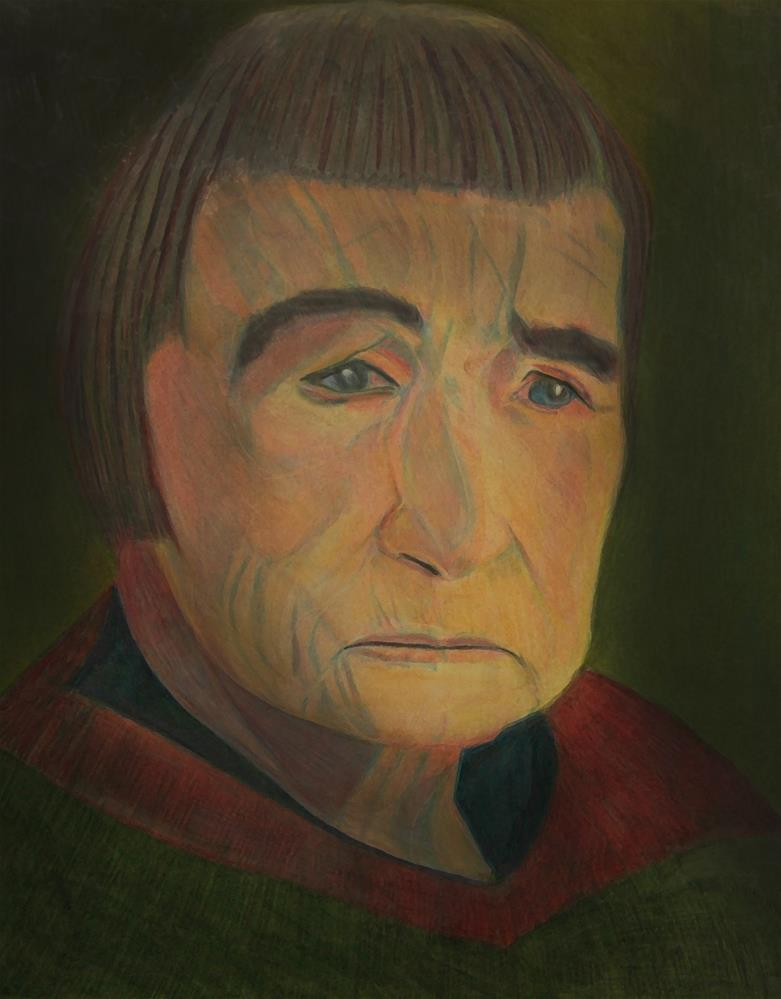 """Agnes Martin Hears Voices"" original fine art by Terri Brown-Davidson"