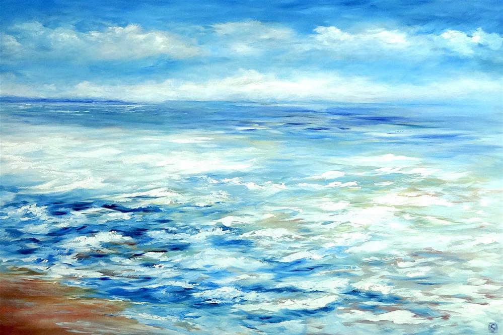 """6030 - Ocean"" original fine art by Sea Dean"