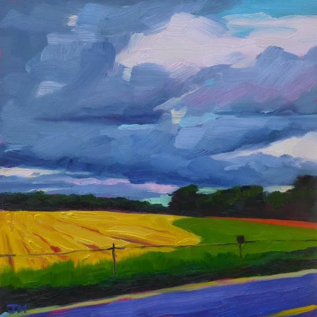 """Tahlia's Field"" original fine art by Jessica Miller"
