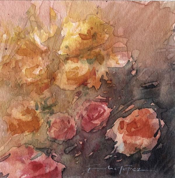 """""""flores 6"""" original fine art by Emilio López"""
