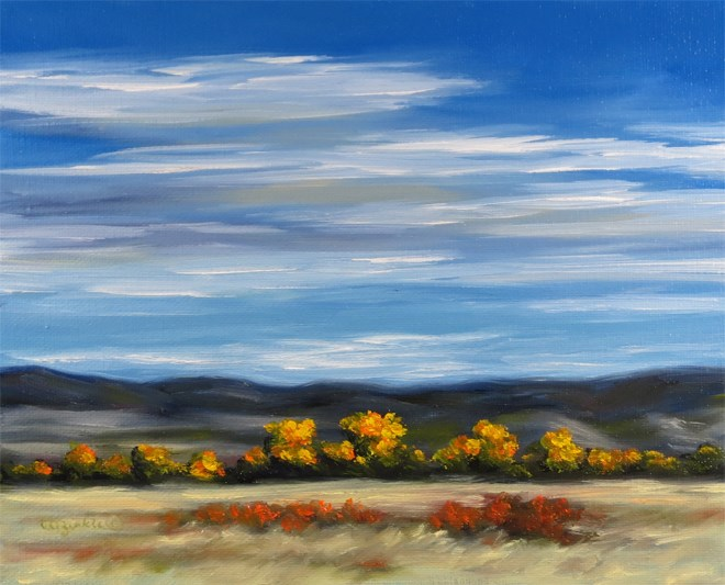 """Fall Brights"" original fine art by Carol Zirkle"