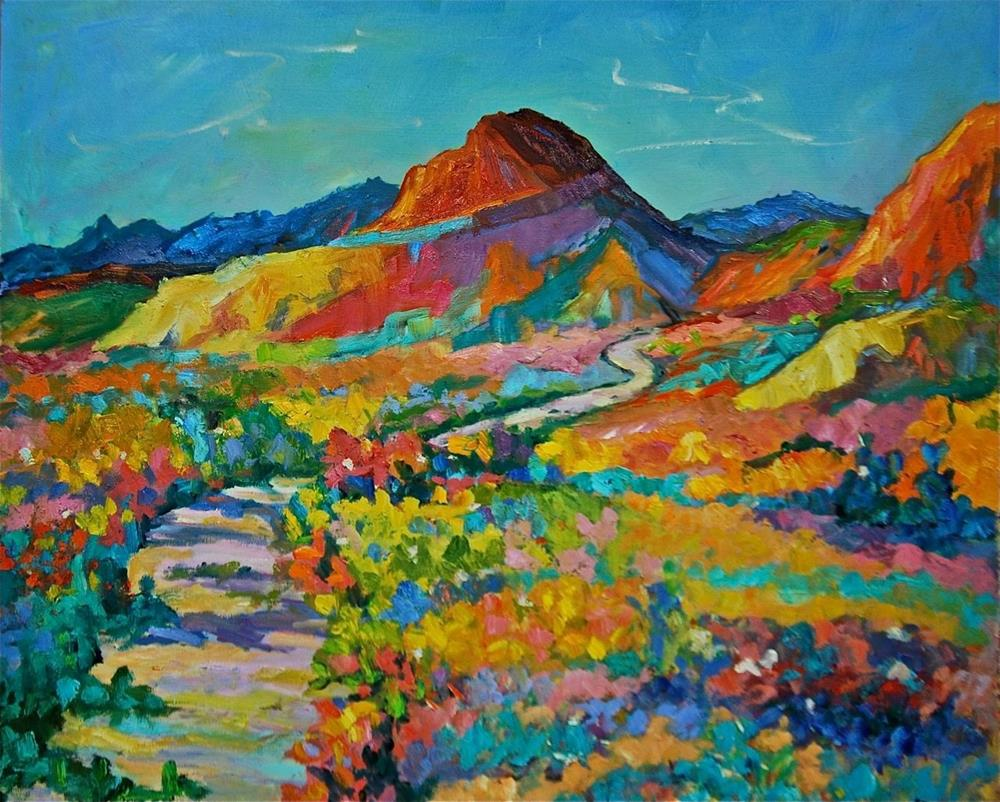 """Road Through Big Bend"" original fine art by Liz Zornes"