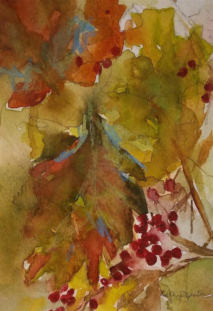 """Fall Leaves"" original fine art by Cathy Dykstra"