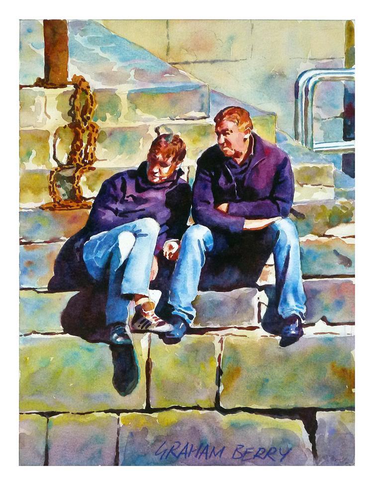 """Mates."" original fine art by Graham Berry"