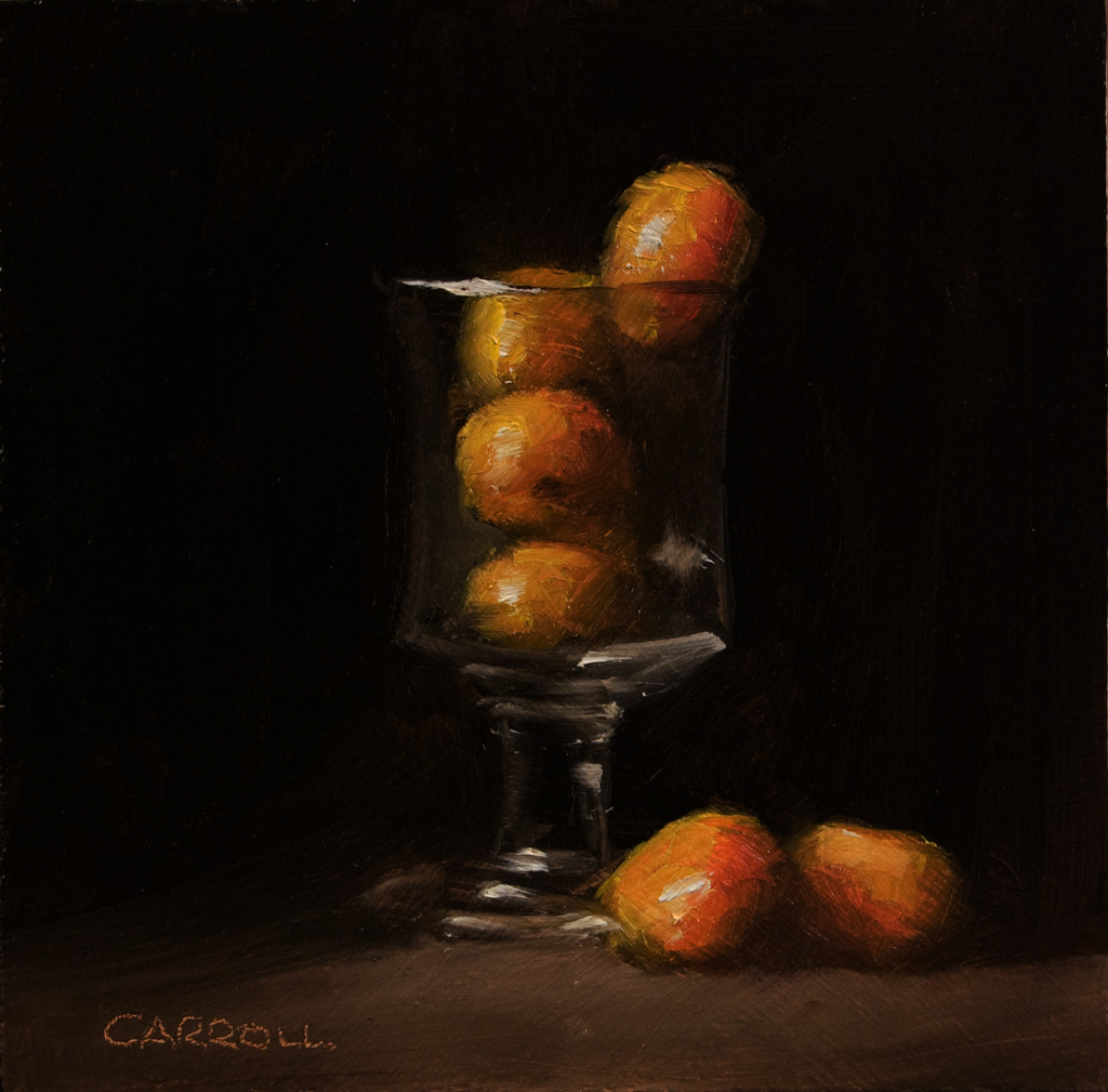 """Glass of Cherry Oranges"" original fine art by Neil Carroll"