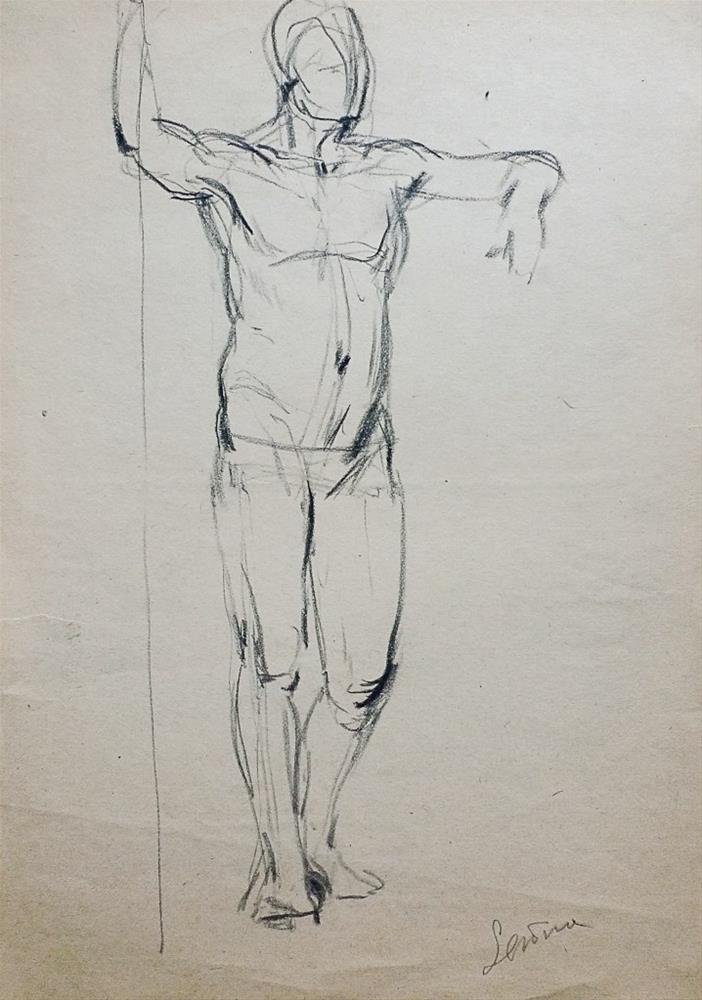 """Man standing"" original fine art by Elena Senina"