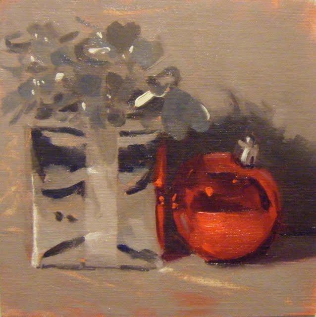 """""""APRES NOEL"""" original fine art by Helen Cooper"""