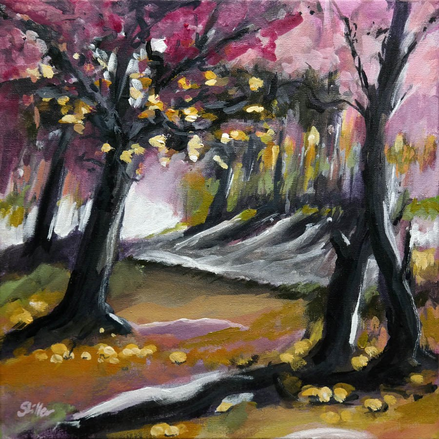 """1545 The Forest Area"" original fine art by Dietmar Stiller"