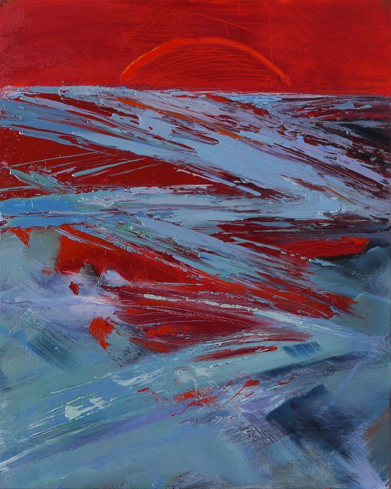 """sunset-(sunrise-sunsettriptych-part3)"" original fine art by Beata Musial-Tomaszewska"