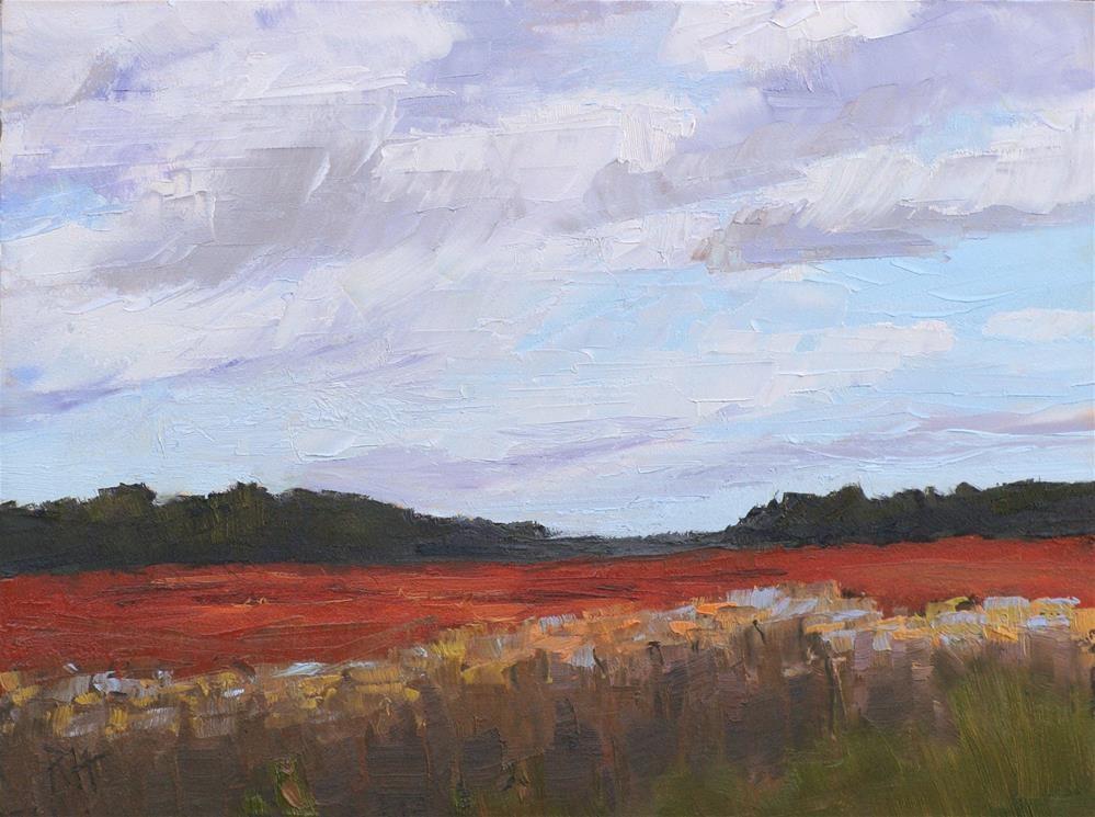 """""""Fall Fields"""" original fine art by Rebecca Helton"""