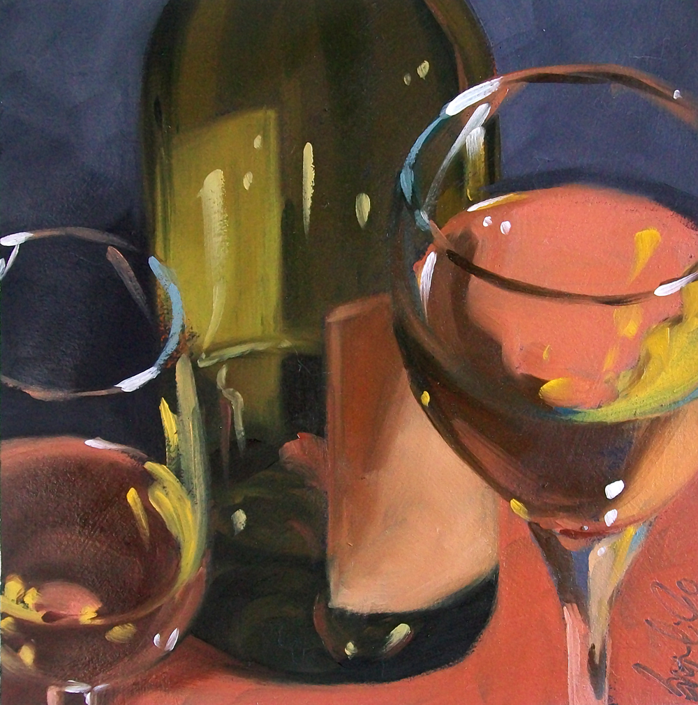 """wino9"" original fine art by Brandi Bowman"