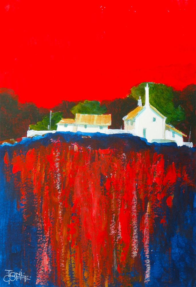"""Hilltop Retreat"" original fine art by Toni Goffe"