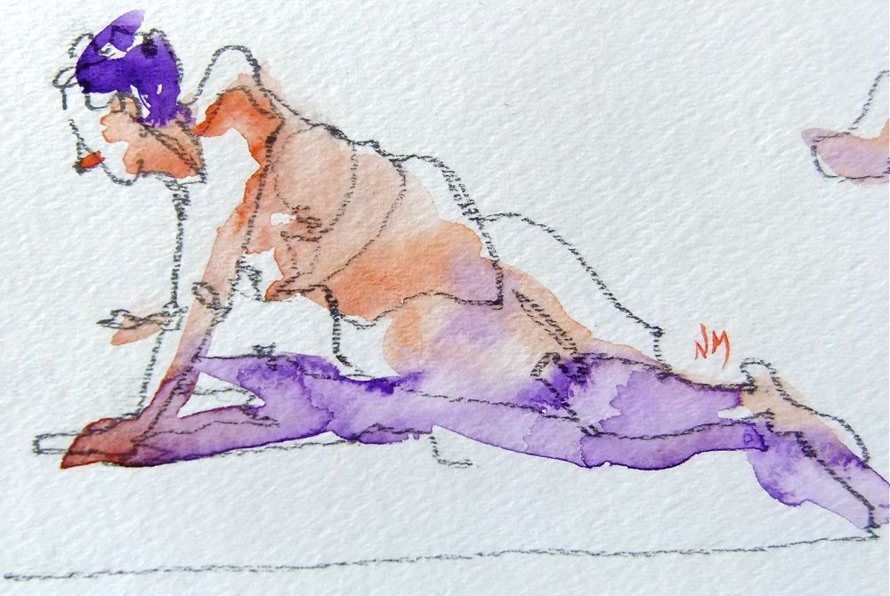 """life drawing study 2"" original fine art by Nora MacPhail"