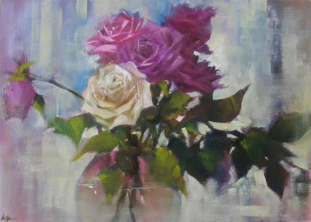 """""""Rose parade"""" original fine art by Celine K.  Yong"""