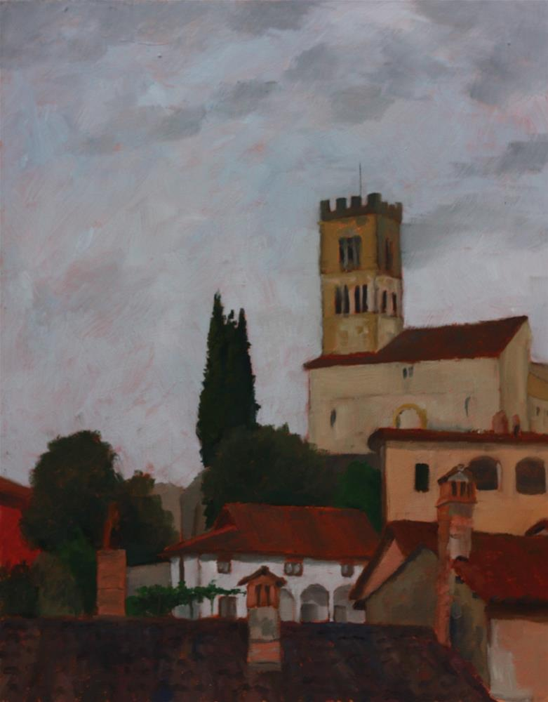 """Evening light, the Duomo"" original fine art by Graham Townsend"